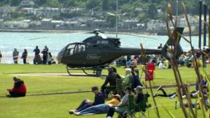 Helicopter in Newcastle