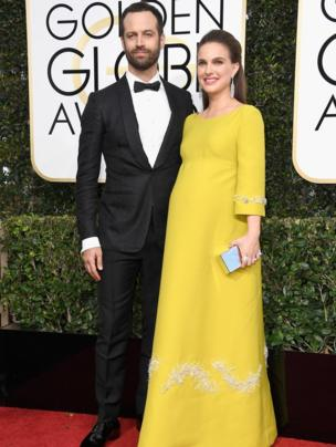Actress Natalie Portman (R) and Benjamin Millepied