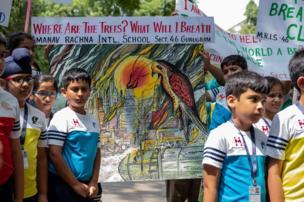 La marcha en New Delhi