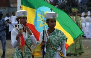 Mercredi, à Addis-Abeba, des croyants célèbrent le premier festival du calendrier chrétien orthodoxe d'Ethiopie.