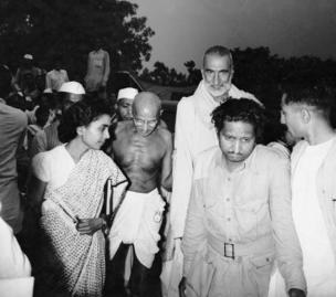 Mahatma Gandhi, Khan Abdul Ghaffar Khan and Sushila nayar