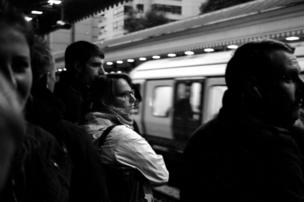 People waiting for the tube
