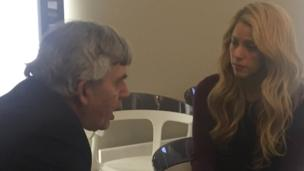 Shakira and Gordon Brown