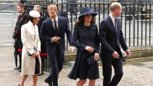 Meghan, Harry, Kate and William