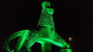 The Lion of Judah monument, Addis Ababa, Ethiopia