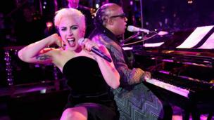 Lady Gaga and Stevie Wonder