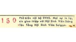 Thông tin in của tập nhạc Hát Cho Đồng Bào Tôi Nghe