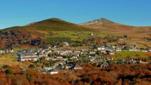 Looking across Bethesda, Gwynedd, towards the hills, captured by Pete Whitehead