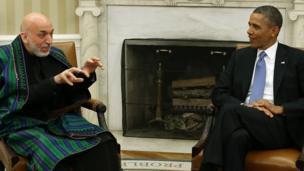 آقای اوباما در قصر سپید با رئیس جمهوری افغانستان دیدار کرد (11 جنوری 2013)