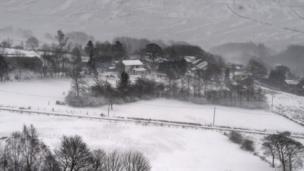 Salju, Inggris