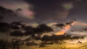 Danny McMahon snapped this image at Aldergrove of the clouds that are also described as Mother of Pearl