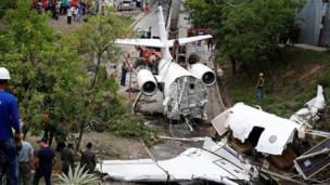 Gulfstream G200 uçağının enkazı