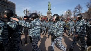 莫斯科示威