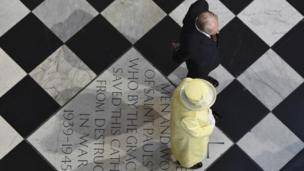 The Queen and Duke of Edinburgh at St Paul's