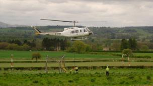 Pylons airlifted