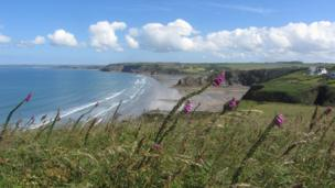 Broad Haven from above Little Haven by Jayne Goodwin