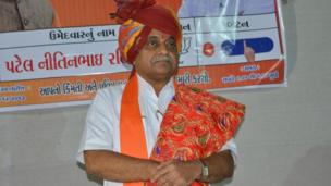 గుజరాత్ ప్రస్తుత ఉపముఖ్యమంత్రి నితిన్భాయ్ పటేల్