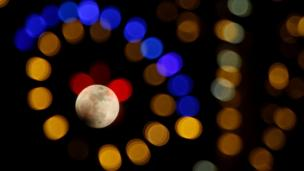 La luna vista desde Inglaterra