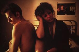 Nan Goldin, Self-Portrait in Kimono with Brian, NYC, 1983, National Museum of Women in the Arts, Promised gift of Steven Scott, Baltimore, in honor of the National Museum of Women in the Arts' tenth anniversary