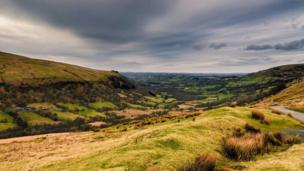 Guto Jones' image of the view across Cwm Senni near Sennybridge