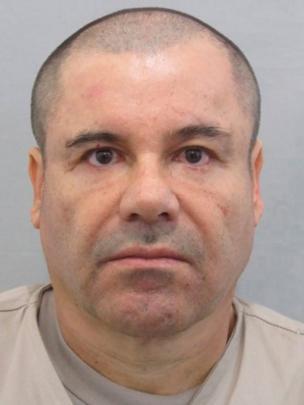 Retrato policial del Chapo.