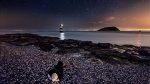 Stars above Penmon, Anglesey