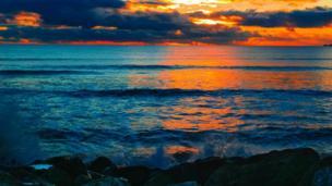 Sunset at Aberavon Beach, Neath Port Talbot, taken by Thomas Williams
