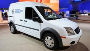 A Ford Transit Connect van