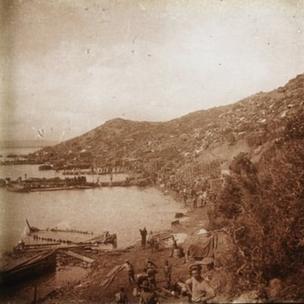Anzak Koyu'nun güneyden görünüşü, Haziran 1915