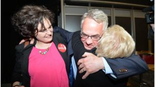 Relief: Alex Attwood makes it through for the SDLP in West Belfast