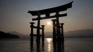 Torii, Itsukushima Shrine