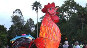 新西兰城市奥克兰(Auckland)举行农历年元宵彩灯会