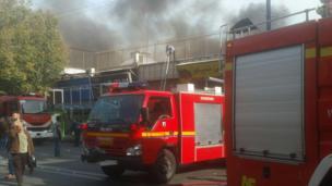 آتش سوزی بازار ارومیه