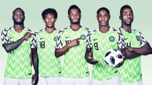 Nigeria-players-posing-in-Nigeria-kit.