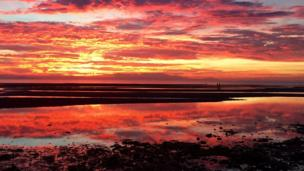 Sunset over Barassie Beach