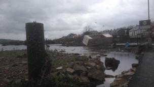 Storm damage at Claudy