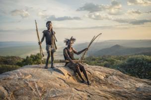 Cazadores en Tanzania