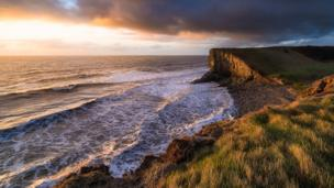 Nash Point on the Glamorgan Heritage Coastline in the Vale of Glamorgan, as seen by Paul Templing.
