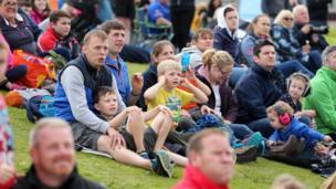 Spectators at Air Waves Portrush