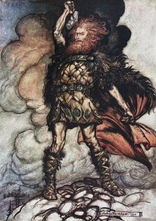 Ilustração de Thor por Richard W