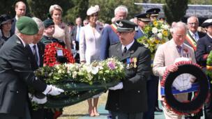 Wreaths were laid by both the Belgian and British royal families
