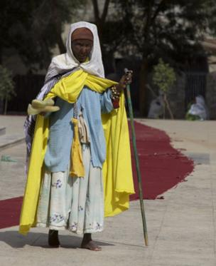 An Ethiopian nun at the Church of St Mary of Zion in Axum