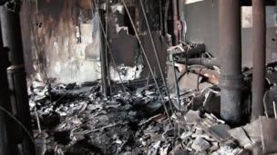 ภาพจากภายในแฟลตภายซึ่งอยู่ในอาคารเกรนเฟลล์ ทาวเวอร์ ทางตะวันตกของกรุงลอนดอน ที่ถูกเพลิงไหม้เมื่อวันที่ 14 มิ.ย.2017