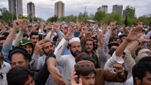 شمالی وزیرستان سے تعلق رکھنے والے تاجروں نے اسلام آباد میں احتجاجی دھرنا دیا