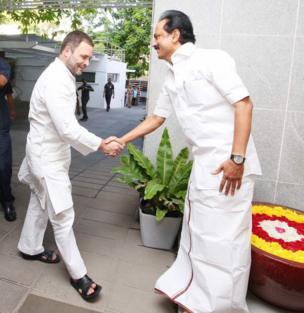 இந்திய காங்கிரஸ் கட்சியின் துணை தலைவர் ராகுல் காந்திக்கு வரவேற்பு