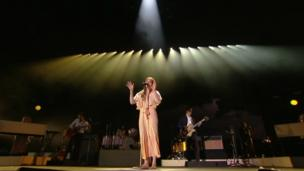Florence and the Machine performs