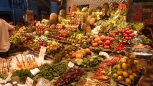"""Esta foto del mercado de La Boquería de Barcelona nos la envió Marlyn Padilla Guarnizo. """"La foto la tomé en el verano de 2015. Me encanta ir a este mercado, hay variedad de frutas y jugos muy fríos""""."""