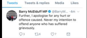 Barry McElduff tweet