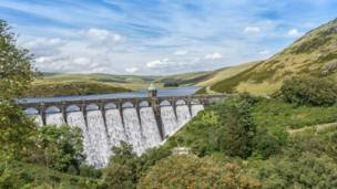 Rhayader dam in the Elan valley, Powys, as taken by Mike Colley