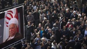 ہاشمی رفسنجانی کی تدفین